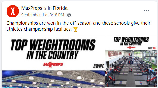 MaxPreps Names Two Dynamic Fitness Weight Rooms as Top in Country