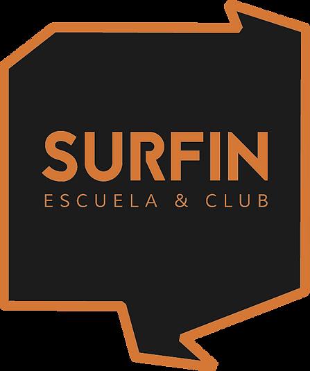 Surfin logo negro y naranja