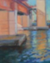 Under the Bridge, 14 x 11, oil