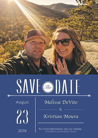 Kristian, Melissa Save the date
