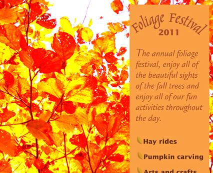 Foliage Festival Poster