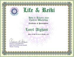 LOREL LIFE & REIKI CERT (10.05.2019)
