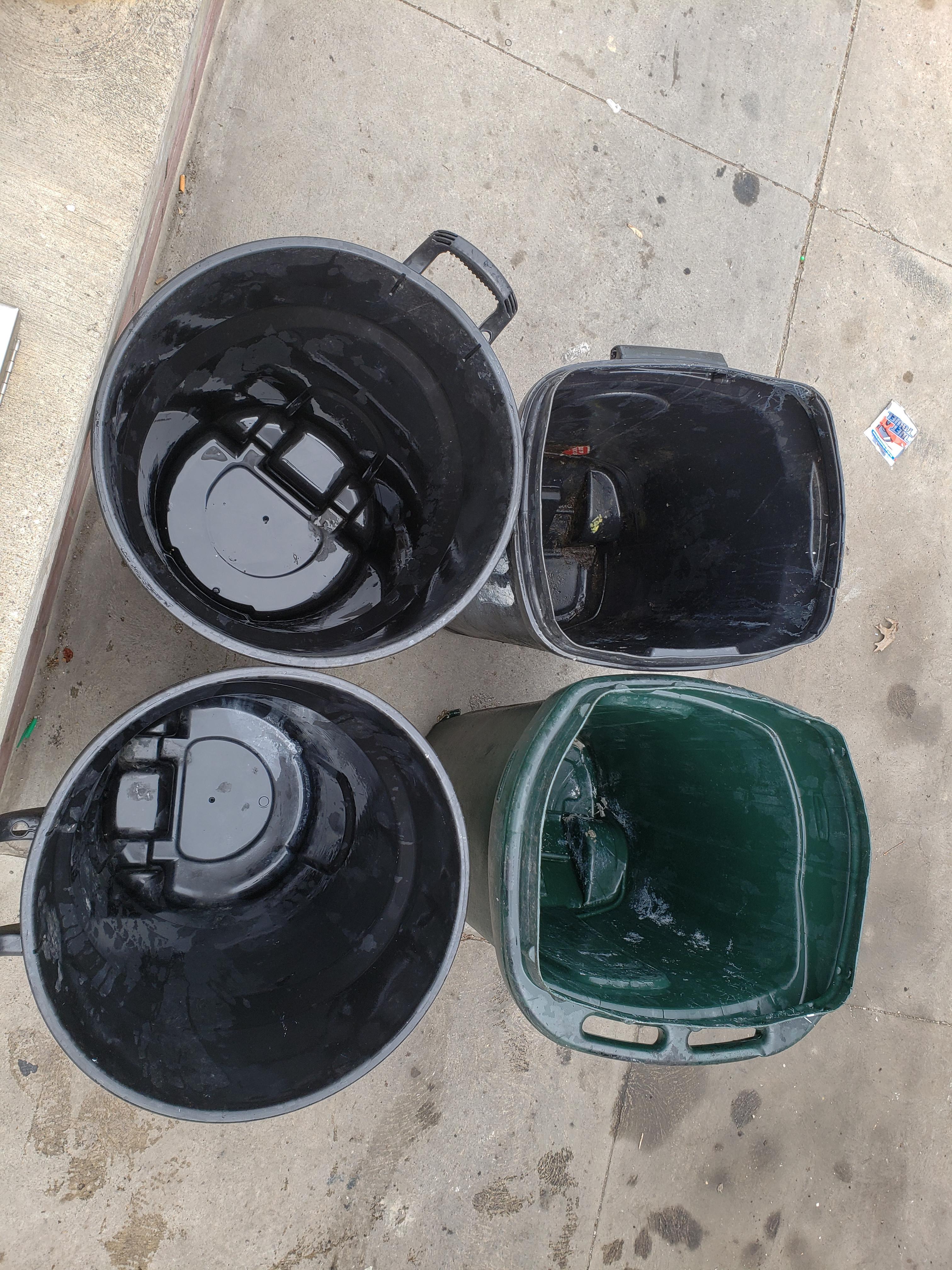 Rubbish bin cleaning     3
