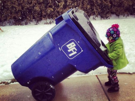 Stop hauling your trash to the curb or dumpster.  We do it for you