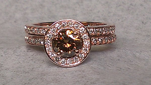 chocolate diamond wedding set - Chocolate Diamond Wedding Ring Sets