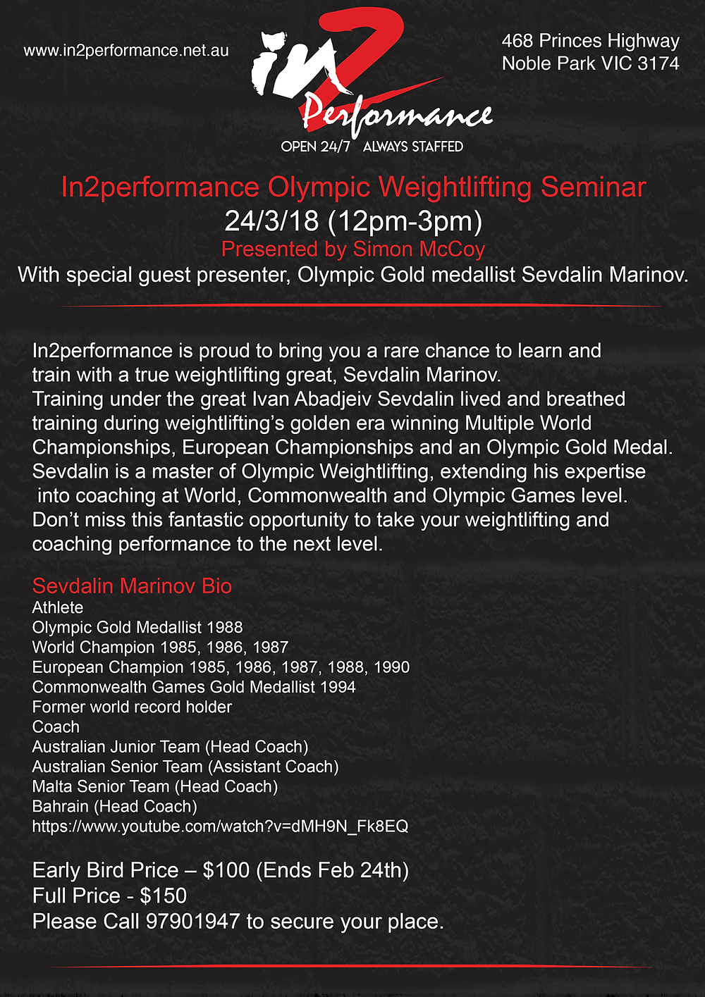 Weightlifting Seminar