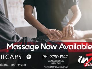 Massage now open