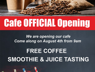 Cafe Official Opening