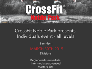 CrossFit Comp March 20th 2019