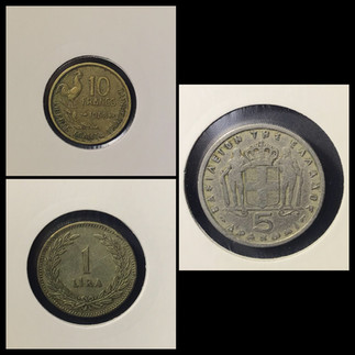 1940-1950s Coin Chronology of Vafiadis Family - a