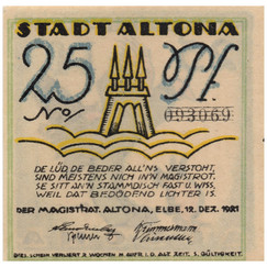 Altona, 25 Pfennig, 1921_Back