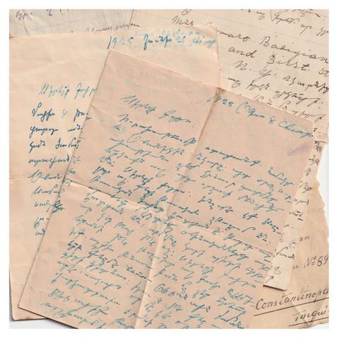 1920s Letters to Karabet Shahinian ( Foto Cumhuriyet )