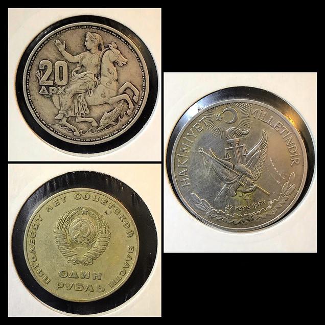 1950-1960s Coin Chronology of Vafiadis Family - a