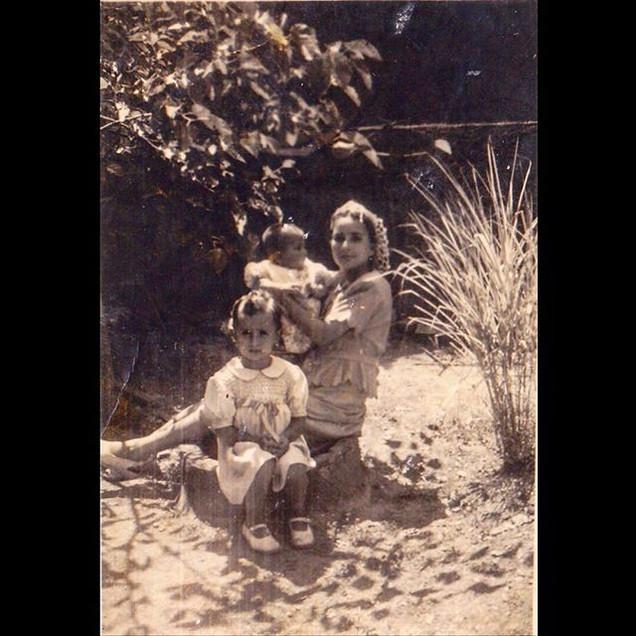 1940s In the garden with children