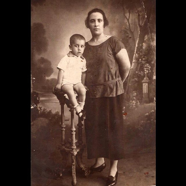 1920s Nicholas Koskeri with his mother