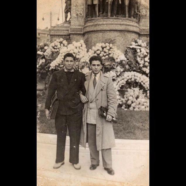 1940s Aleko in front of Taksim Republic Monument