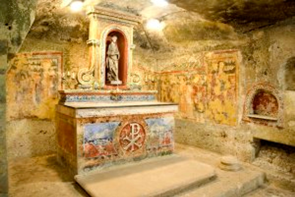 St.Agatha's Catacombs - Frescoes