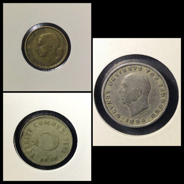 1940-1950s Coin Chronology of Vafiadis Family - b