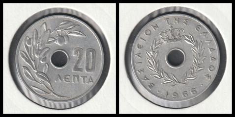 20 Lepta - 1966