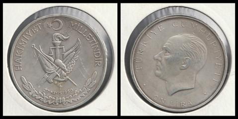 10 Lira 27 May 1960 Revolution