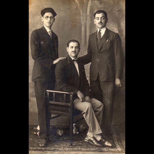 1930s The Vafiadis Gentlemen - Three of Nine Siblings
