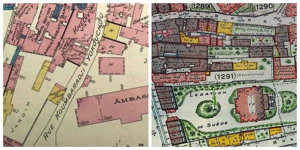 1905 Goad ve 1932 Pervititch Haritaları'nda Kumbaracı Yokuşu