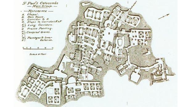 St.Paul's Catacomb Map