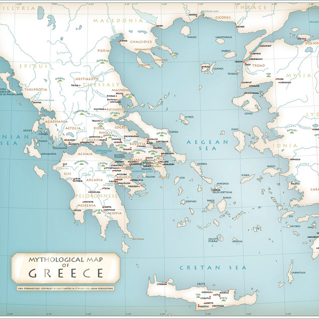 Mythological Greece Map