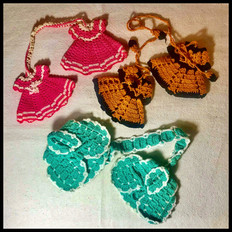 1940s, Potholders knitted by Ashen