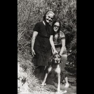 1960s Koulurgioti Ladies and the hunt dog