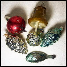 1930s-1970s Christmas Ornaments