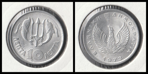 10 Lepta - 1973