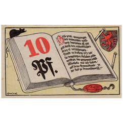 Braunschweig, 10 Pfennig, 1921_Back