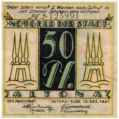 Altona, 50 Pfennig, 1921_Back