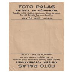 1950s Foto Palas / Fotoğraf Zarfı
