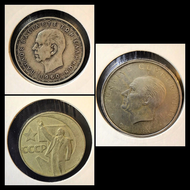 1950-1960s Coin Chronology of Vafiadis Family - b