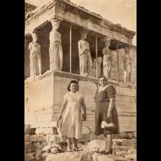 1950s Road to Europe : Vafiadis family in Acropolis