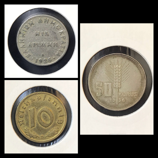 1920-1930s Coin Chronology of Vafiadis Family - a