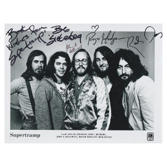 Supertramp - Signed Photo with Certificate