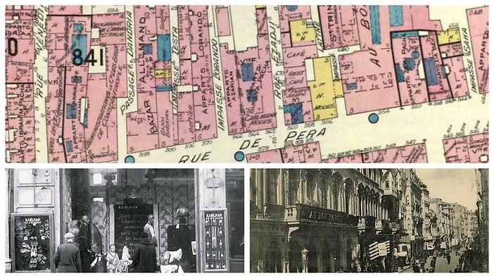 Au Bon Marche & Karlmann Mağazaları - 1905 Goad Haritası Üzerinde