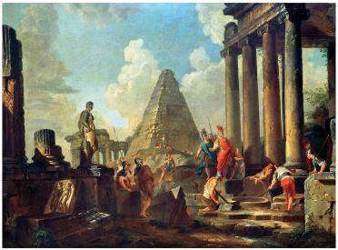 -Büyük İskender Achilles'in Mezarı Önünde-