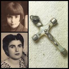 1920s Baptism Cross os Sofia Cakiroglou