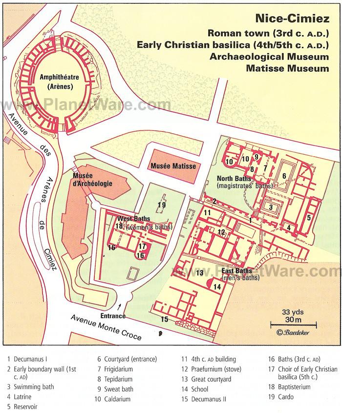 Cimiez Map