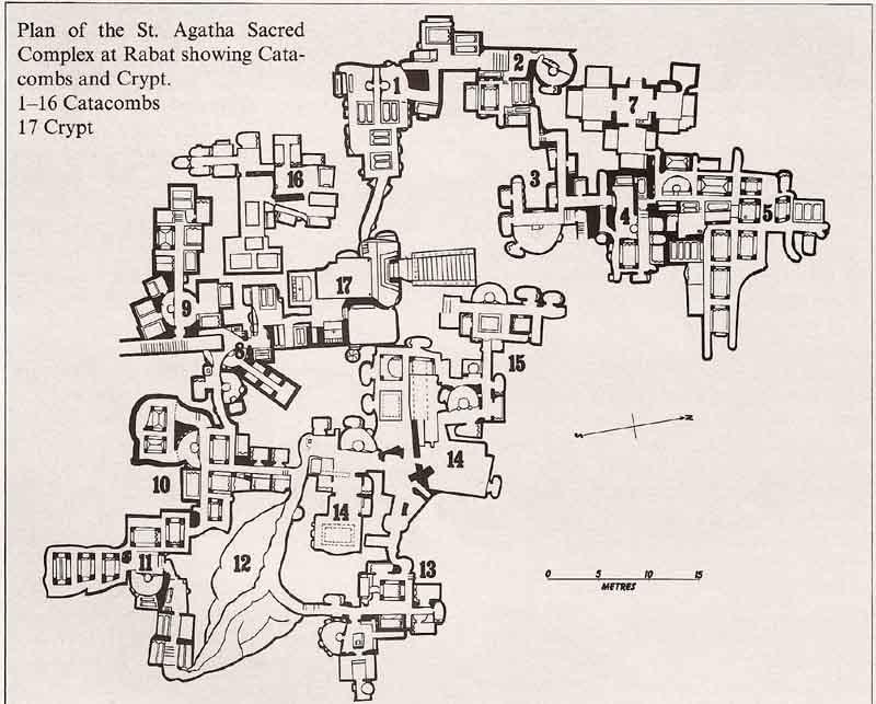 St.Agatha's Catacombs - Map