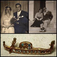 1950s Family Relics : 'The Venetian Gondola Brooch'