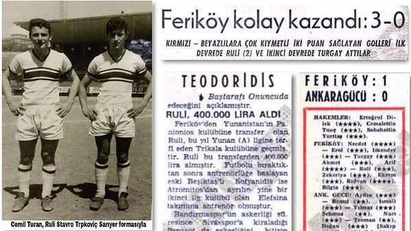 1960s-1970s Stavros Ruli Trpkovic News on Newspapers - Taken from Milliyet Newspaper Archives