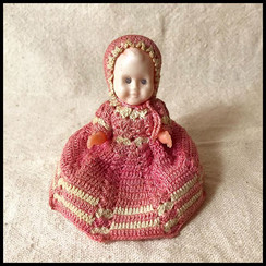 1940s Doll with Knit Dress by Ashen