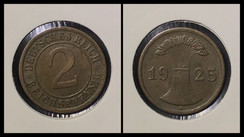 2 Reichspfennig - 1925