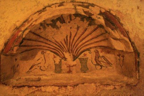 St.Agatha's Catacombs - Frescoe of Shell and Doves