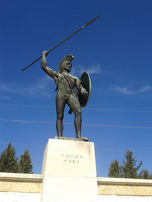 Leonidas Statue- Thermopylae, Photo by 2mi3